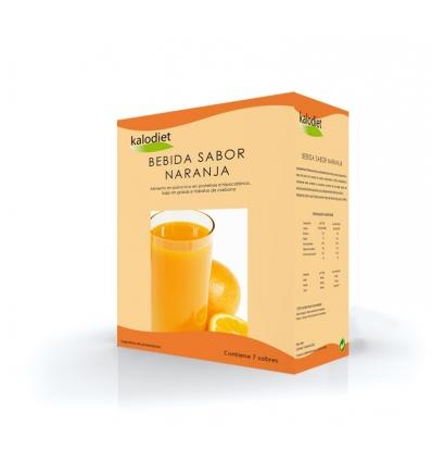 Kalodiet , bebida naranja caja 7 sobres