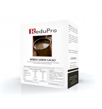 ReduPro Bebida de Cacao Caliente o frio, caja 7 sobres