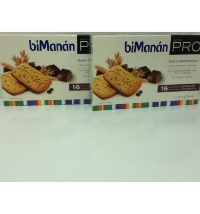 Bimanan pro Galletas Cereales con Pepitas de Chocolate, 2 cajas, la 2º unidad a mitad precio.