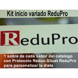 .NUEVO Kit Inicio ReduPro, con protocolo para PERSONALIZAR, todo el catalogo 1 racion de cada, total 93 RACIONES (19 dias)
