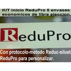 .NUEVO Kit Inicio ReduPro para 18 dias, 5 envases economicos con PROTOCOLO REDUC-SILUET para personalizar