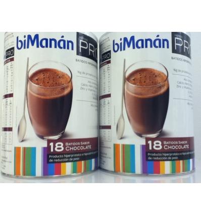 Bimanan Pro 2 botes Batido Chocolate envase economico