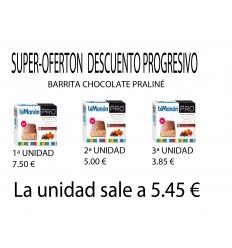 Bimanan pro Barritas Chocolate Praliné, 3 cajas, con descuento progresivo