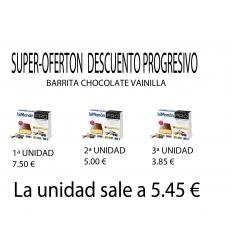 Bimanan pro Barritas Chocolate Vainilla, 3 cajas, con descuento progresivo