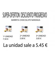 Bimanan Pro Barrita de Chocolate Naranja, 3 cajas con descuento progresivo