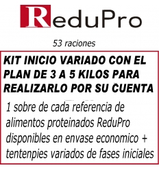 .ReduPro Kit inicio, con PLAN 3 A 5 KILOS, variado sencillo de 53 raciones