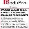 .ReduPro Kit inicio 50 raciones con protocolo PLAN 3 A 5 KILOS