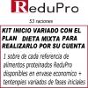 .ReduPro Kit inicio variado con el PLAN DIETA MIXTA