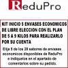 .ReduPro Kit inicio con 5 envases economicos de libre eleccion con plan para perder de 5 a 9 kilos.