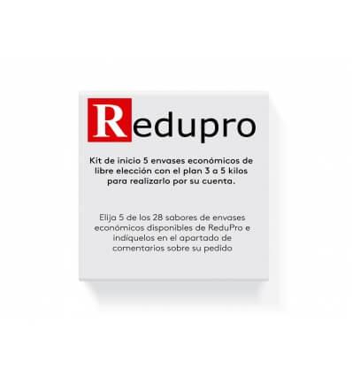 Kit inicio ReduPro 5 envases economicos con plan para perder de 3 a 5 kilos.