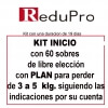 ReduPro Kit inicio con Plan de 3 a 5 kilos con 60 sobres de libre elección.