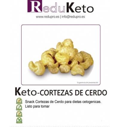 ReduKeto Keto-Cortezas de cerdo, caja con 4 unidades